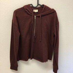 Tilly's Cropped Hooded Sweatshirt